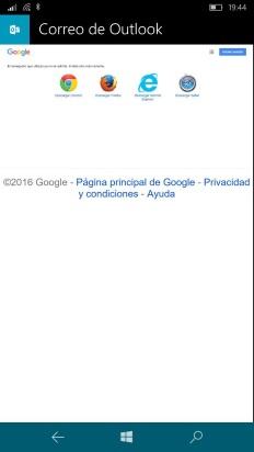 mensaje error agregar cuenta google windows 10 mobile