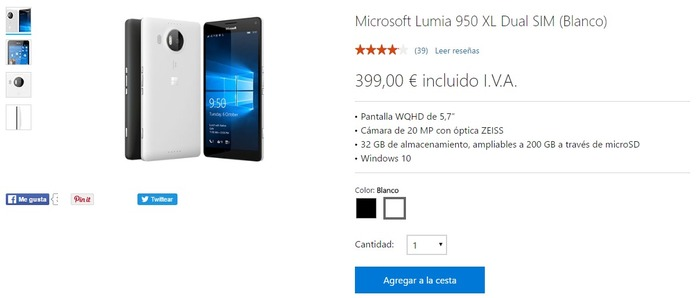 Lumia 950 XL oferta