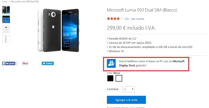 lumia-950-dock-gratis