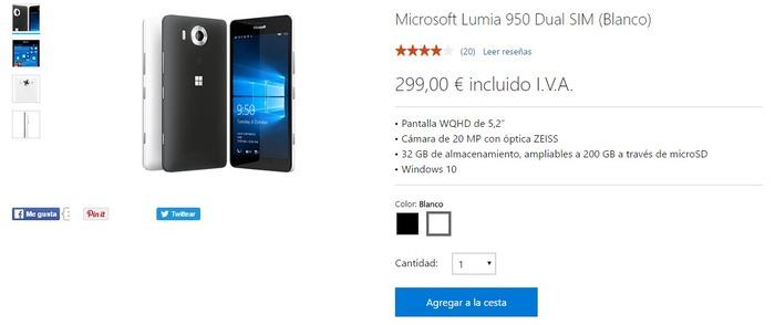Lumia 950 oferta