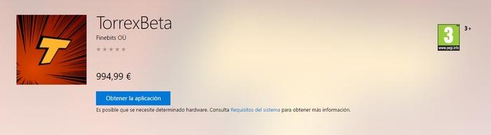 Torrex Beta no disponible
