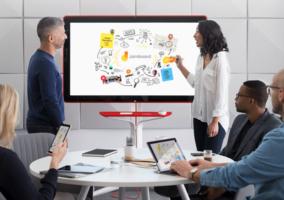 Jamboard en una reunión de empresa