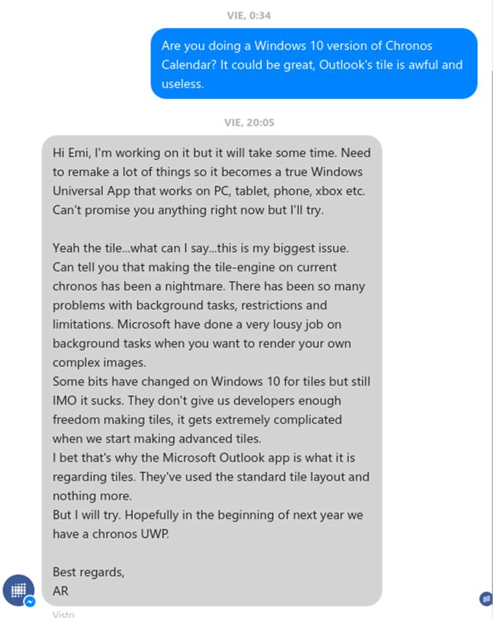 Conversación con el desarrollador de Chronos