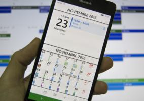 Aplicación de Chronos Calendar abierta en un Lumia 950