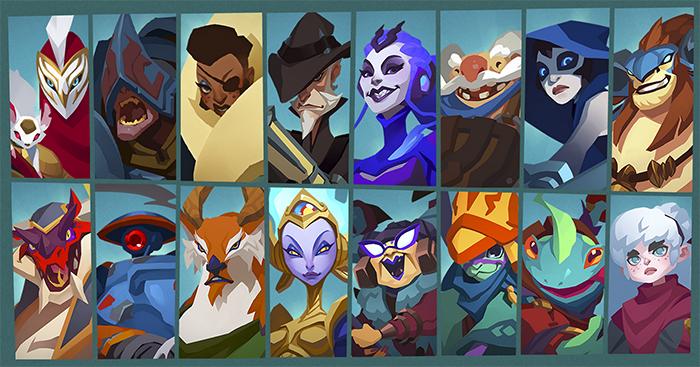 Todos los personajes disponibles en Gigantic