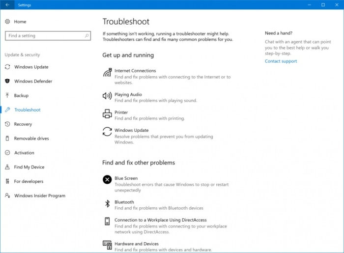troubleshooter build 15019