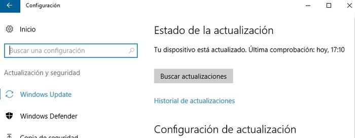 Windows Update buscar actualizaciones