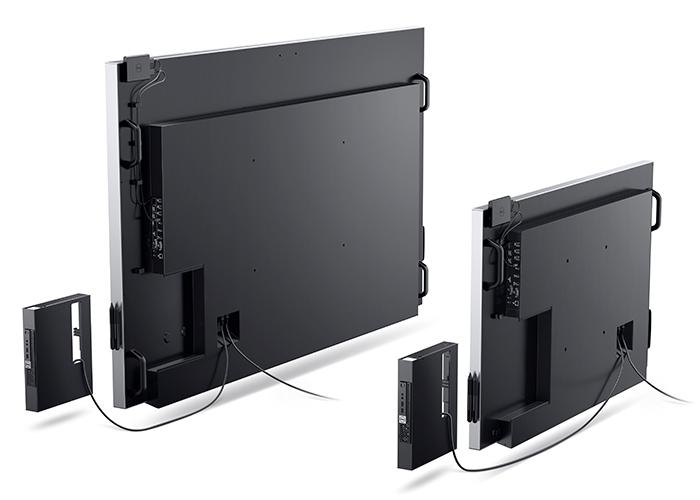 Imagen promocional de las nuevas pantallas de Dell rivales del Surface Hub