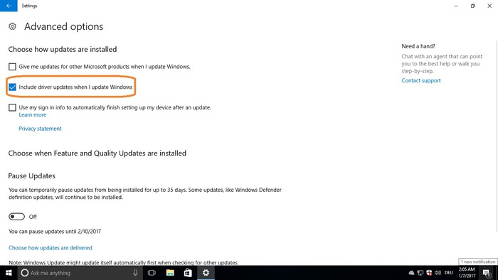 windows 10 desactivar actualizacion drivers