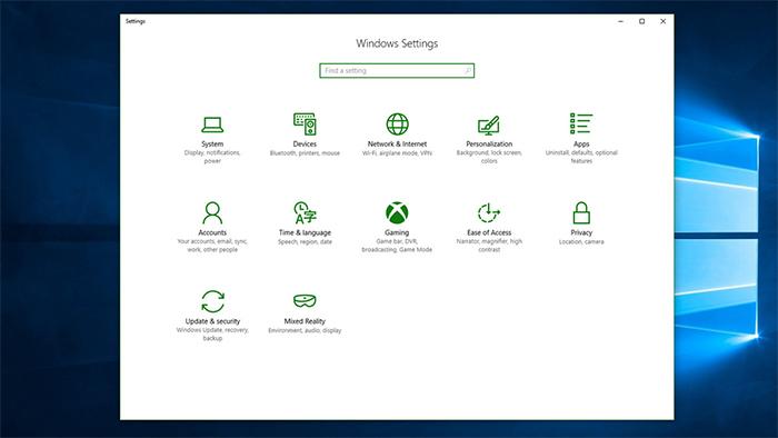 Nueva sección de Xbox en el menú Configuración de Windows 10