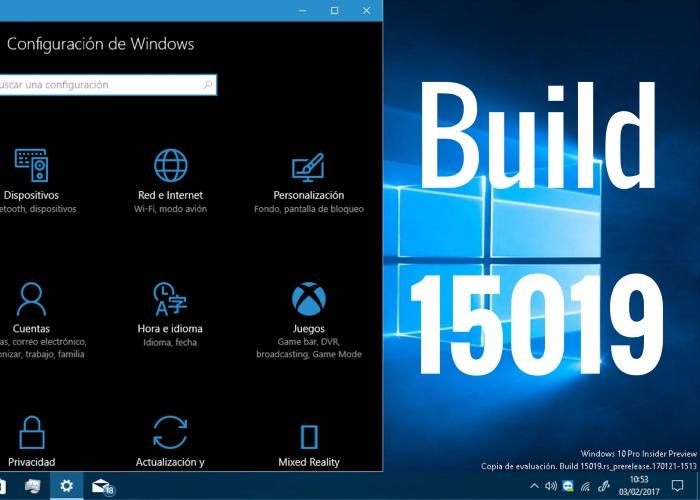 Build 15019 portada