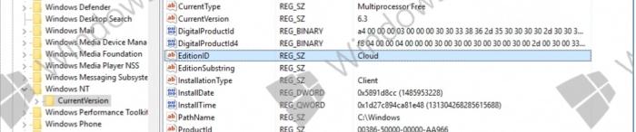 Windows-Cloud registro