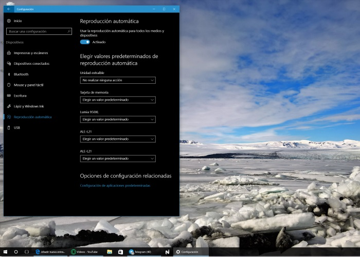 reproduccion automática windows 10