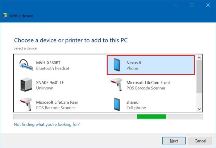 select-bluetooth-phone-windows-10