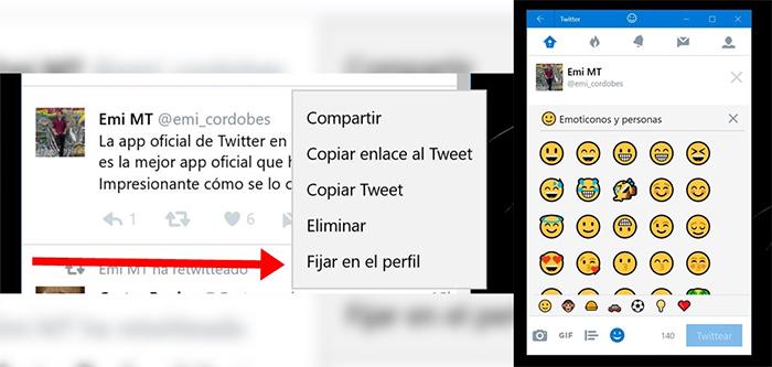 Nuevas opciones de la app de Twitter
