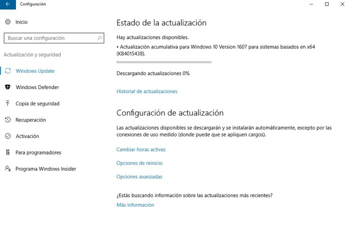 Windows 10 actualización