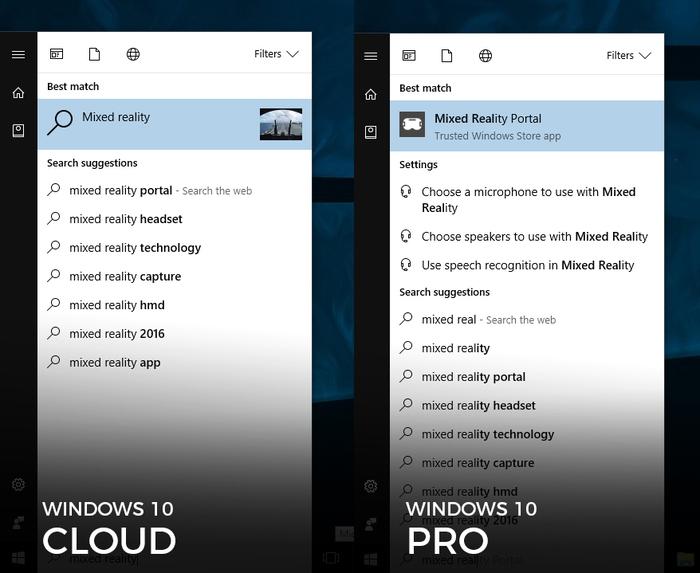 Windows Mixed Reality windows 10 cloud