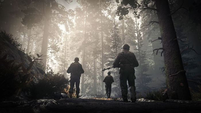 Call of Duty WWII escena bosque