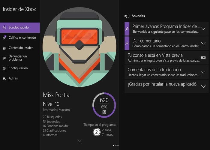 Centro Insider Xbox