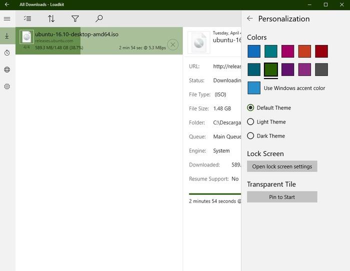 Gestor de descargas Loadkit Download Manager Windows 10