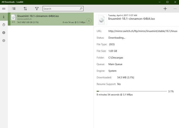 Gestor de descargas Loadkit Download Manager