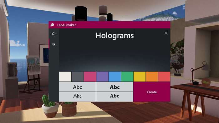 Holograms Windows 10 realidad mixta