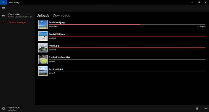 MEGA Windows 10 cloud drive