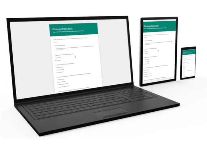 Microsoft Forms Dispositivos