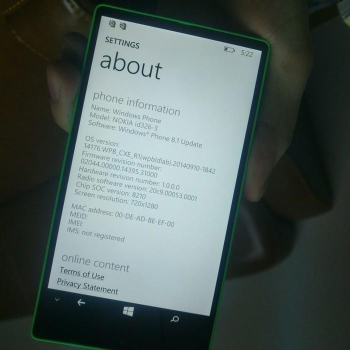 Nokia id326-3 informacion
