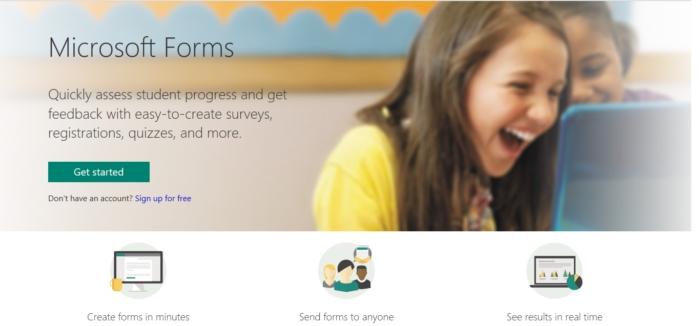 Pagina Microsoft Forms