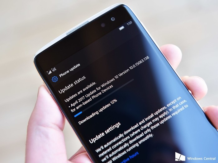Windows 10 Version 10.0.15063.138 for arm-based Phone Devices