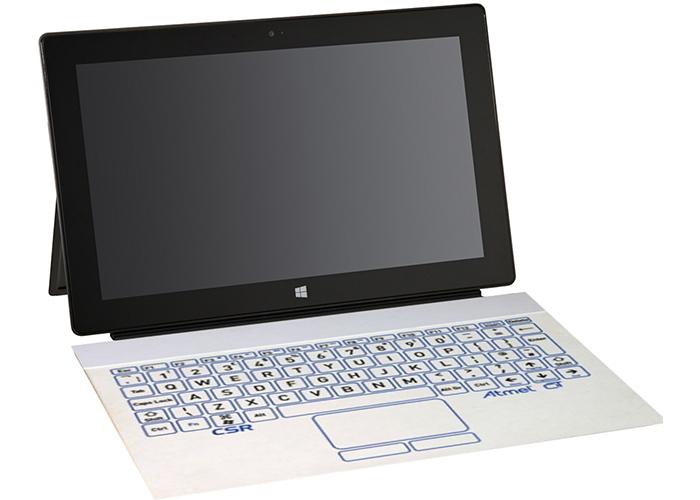 Concepto de cómo sería el teclado de tinta electrónica