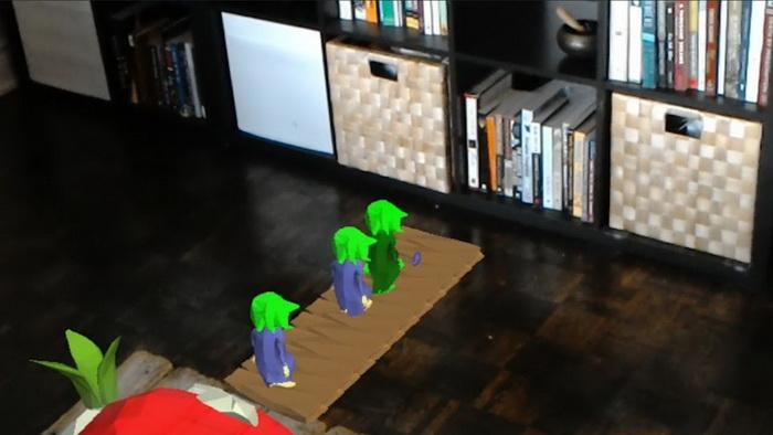 Lemmings paseando por la sala