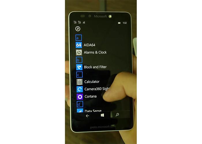 Frontal del cancelado Lumia 750