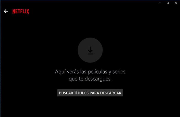 netflix windows buscar titulos para descargar