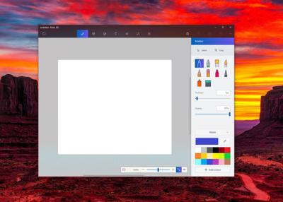 Diseño de la app Paint 3D con Project NEON