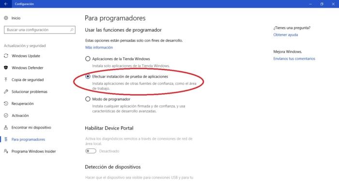 Activar Prueba De Apps