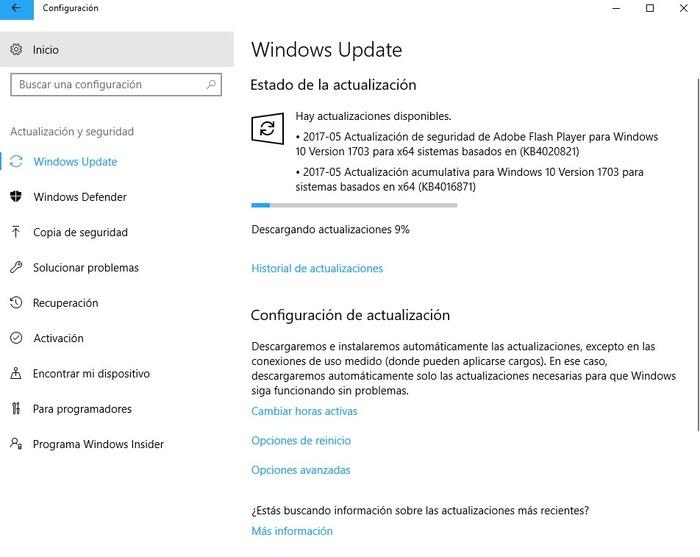 Actualizacion acumulativa windows 10 15063.296