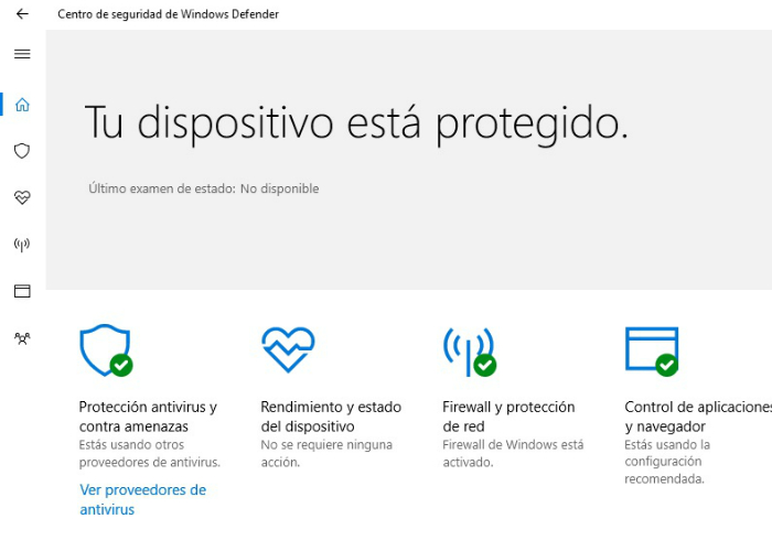Centro de Seguridad Windows Defender