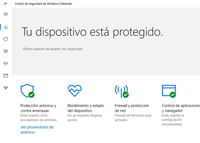 Centro de Seguridad Windows Defender