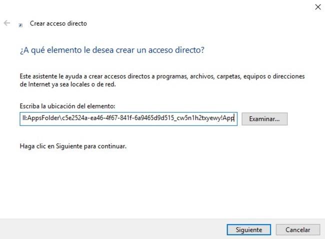Explorador archivos Windows 10 UWP acceso directo
