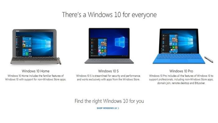 Familia Windows 10
