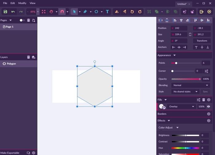 Gravit Designer poligono