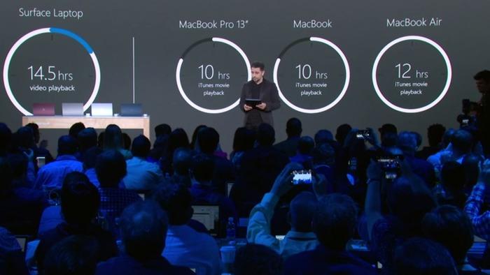 Microsoft Surface Laptop autonomia bateria