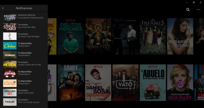 Notificaciones Netflix