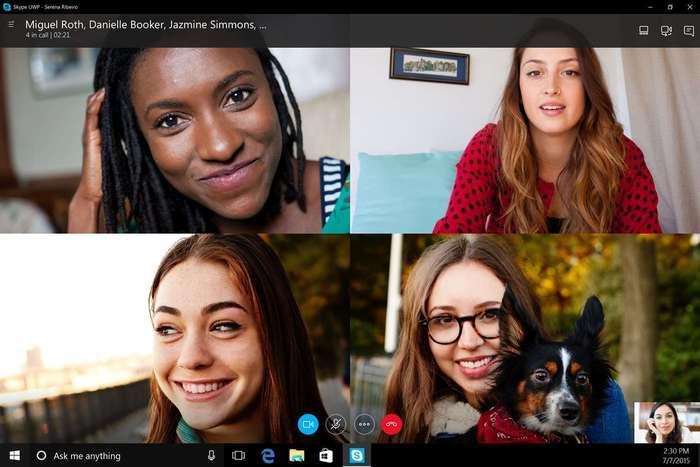 Skype Windows 10 videoconferencia