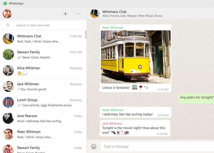 WhatsApp Desktop Windows 10