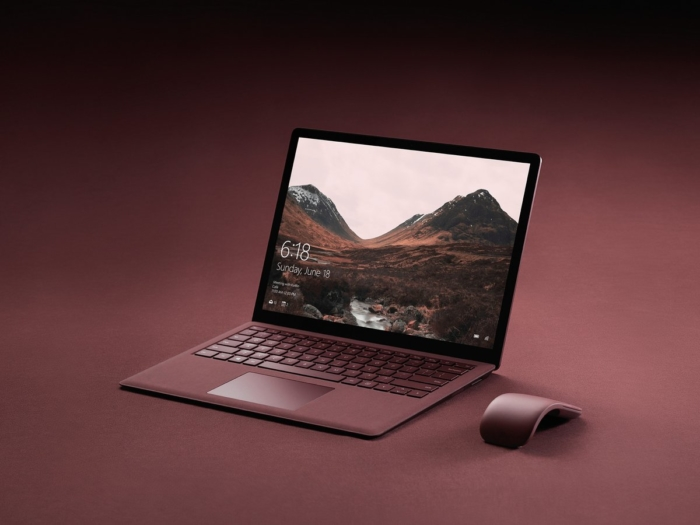 Surface ultrabook color rojo