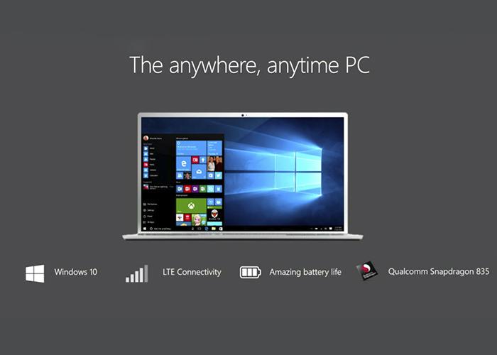Imagen promocional de Windows 10 en procesadores ARM