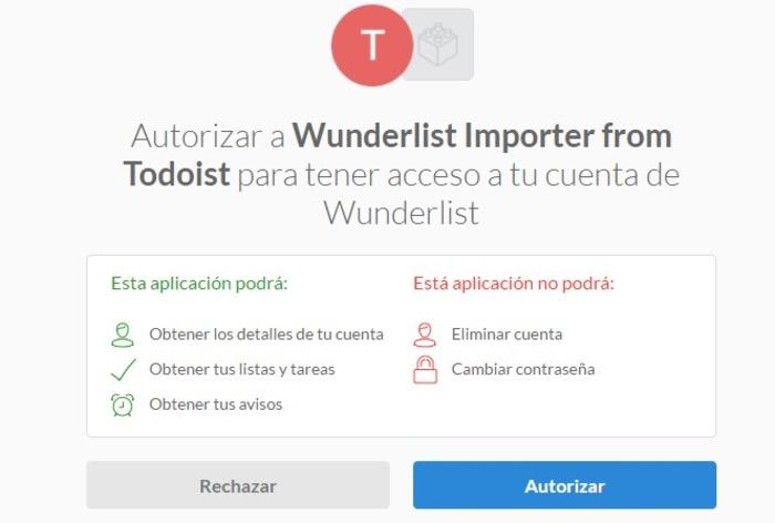 wunderlist importer from todoist